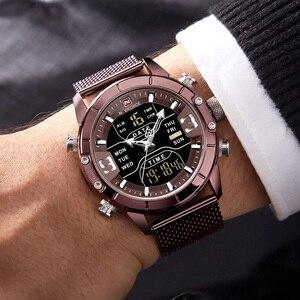 Image 2 - NAVIFORCE Analoge Digitale Horloges Mannen Luxe Merk Rvs Sport heren Horloges Digitale Waterdicht Man Horloge 2019 Sport
