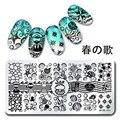 12*6 cm Nail Art Sello Plantilla de Diseño Placa de la Imagen de Shell Del Mar Starfish Harunouta L012