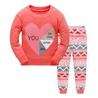 Syue Moon Boys Pajamas Sets 2017 Kids Heart Pattern Pyjamas Children 100 Cotton Sleepwear Baby Girls