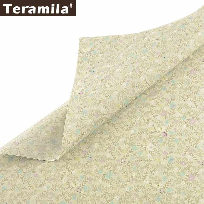 Teramila100% Cotton Flowers Fabric Quilting Tecido Sewing Patchwork Telas DIY Tissus Au Metre Dress Home Textile Baby Clothing