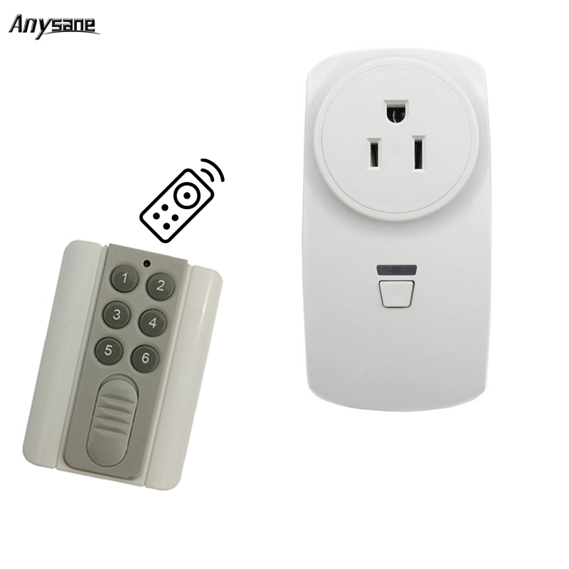 US socket outlet universal remote control controller 433mhz RF relay
