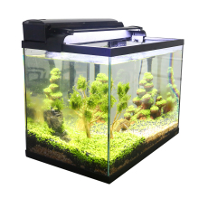 Aquarium Fish Tank 3 In 1 Kit with Glass Tank, Filter and LED Light Display Goldfish Mini