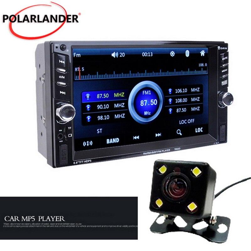 Steering wheel control With rear camera  2 Din car radio  Bluetooth  MP4 MP5 video Player 7 inch car radio
