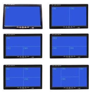 """Image 5 - Podofo 7 """"bölünmüş ekran dörtlü monitör 4CH Video girişi cam tarzı park araba için gösterge paneli dikiz kamera araba araba styling"""