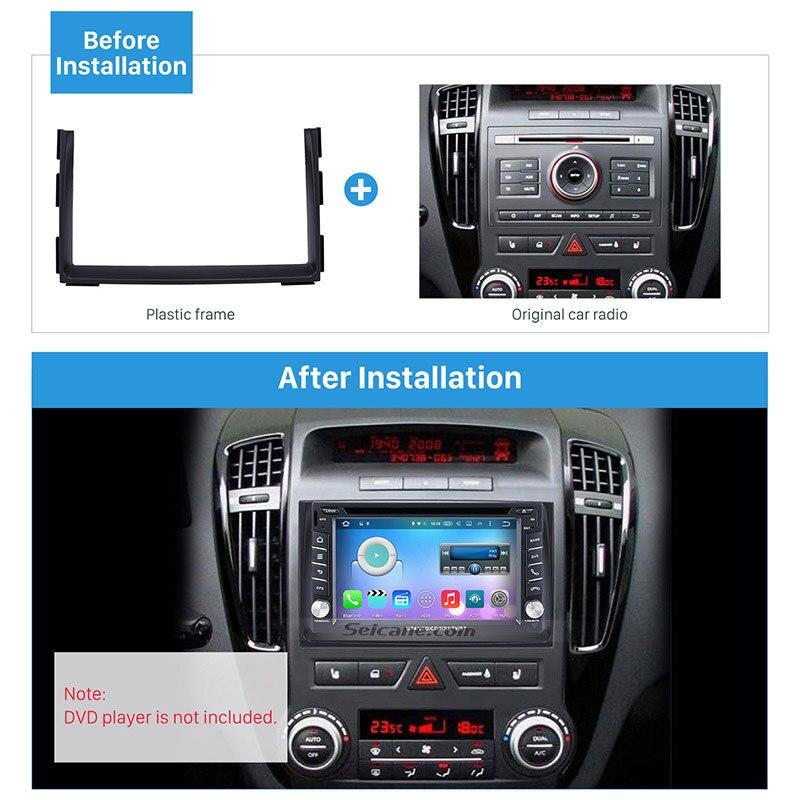 Seicane Double Din Car Radio Fascia DVD Gps Decorative Frame for 2010-2012 KIA CEED Dash Mount Surround Panel Trim Kit fitting