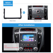 Seicane Doppio Din Autoradio DVD Gps Cornice Decorativa per il 2010-2012 KIA CEED Dash Mount Pannello Trim Kit Surround raccordo