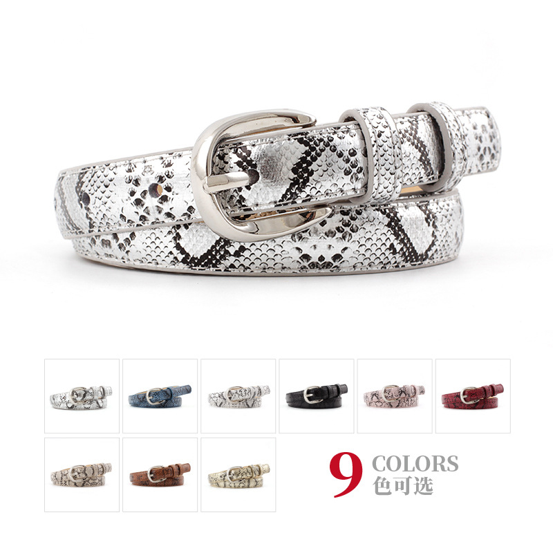 New high quality woman   Belts   pu leather Snake women   Belt   waist Gold Square Alloy Pin Buckle Female Waistband Jeans   Belt   C31