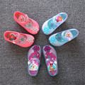 2016 Kids Girls Jelly Sandals Elsa anna Girl's Flat Shoes summer mini princess soft jelly shoes slip-resistant baby Girl sandals