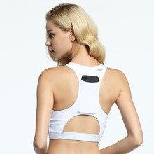 4fae0d4dc9 Back Pocket Shock Sports Bra Women Shakeproof Yoga Bras Full Cup Fitness  Gym Sport