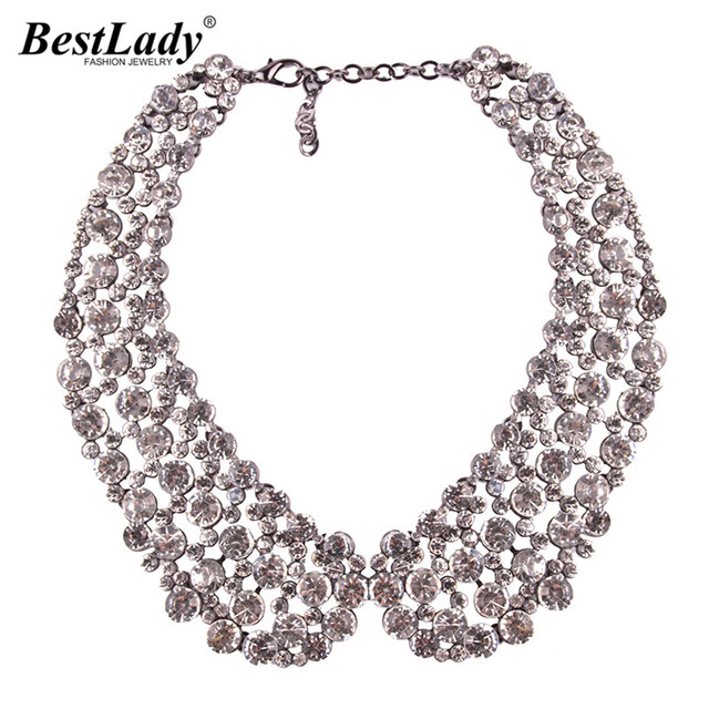 Best lady New Trend Hot Sale Luxury Chokers Necklace for Women Fashion Collar Bijoux  Fashion Wedding Statement Necklace Jewelry