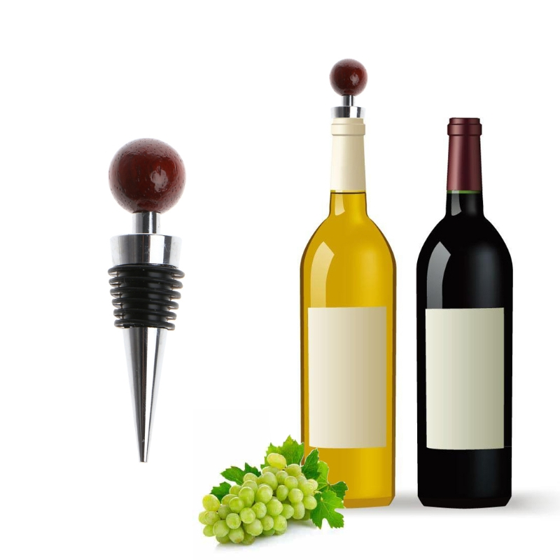 Barware Conscientious Top Quality Novelty Tree Wood Ball Shaped Zinc Alloy Thread Sealed Wine Bottle Stopper Cap Jun20 Packing Of Nominated Brand