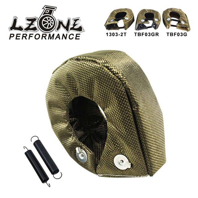 LZONE - 100% Full TITANIUM T3 turbo blanket turbo heat shield fit : t2 t25 t28 gt28 gt30 gt35 and most t3 turbo JR1303-2T/TBF03