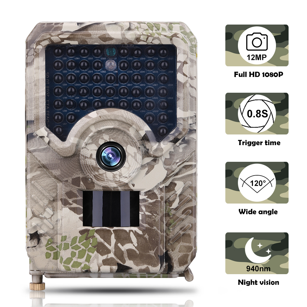 Vertvie Outlife 1080P Trail Camera Outdoor Waterproof IP56 Cameras Video 12MP Photo 940NM Night Vision Hunting Camera Wild