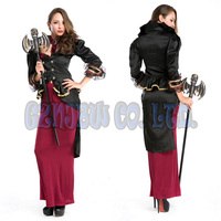 Adult Sexy Red Black Gothic Vampire Queen Witch Women Fancy Dress Queen Of Halloween For Womens