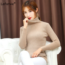 Lafarvie Autumn Winter Turtleneck Knitted Sweater Women Long Sleeve Slim Thick Warm Soft Flexible Quality Pullover Female Jumper