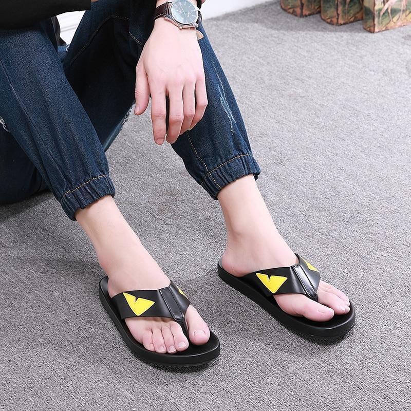 Fashion Monster Flip flops for men Summer Hot Beach Sandals Big Size euro 38 46