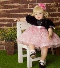 55 cm de gama Alta de vinilo de silicona renacer muñeca de juguete recién nacido bebés niñas princesa muñeca de cumpleaños regalo de vacaciones antes de acostarse juguete jugar a las casitas