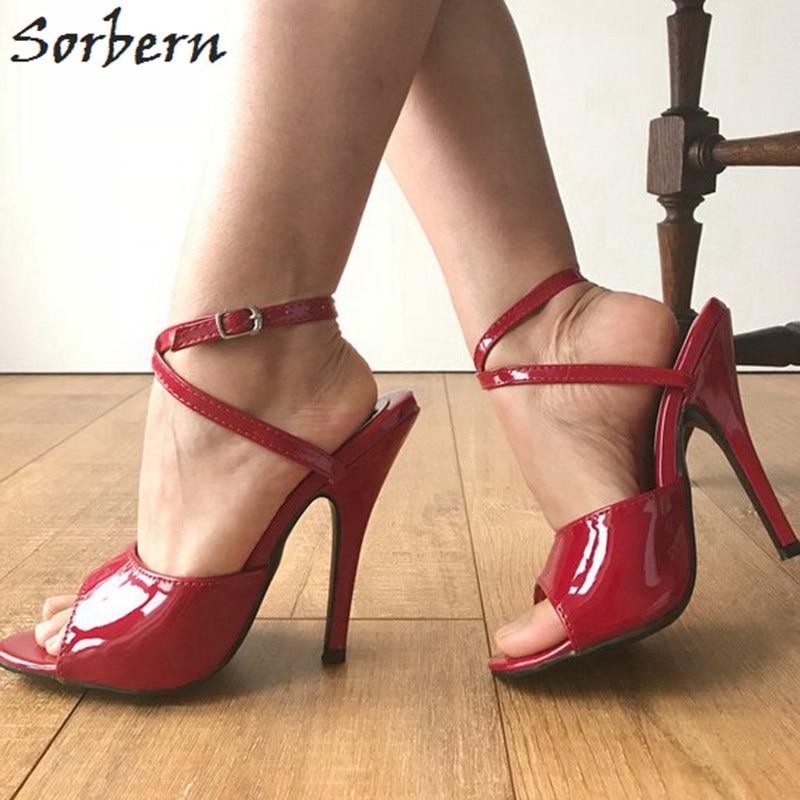 Slingback À Sorbern 12 Porter Ciber Custom Sangle Rouge Partie vin Doux Sandale Hauts Color Cheville Talons Cm 16 Vin Chaussures Lundi 0wqqAg1Ix