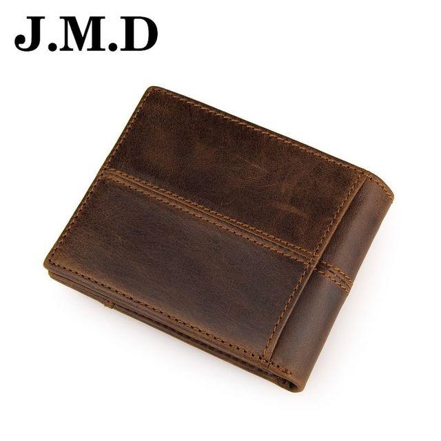 JMD 2017 Venta Caliente del Diseño de Marca de Cuero Genuino de Los Hombres Corto Titulares de la Tarjeta carteras Monedero de Monedas de Época de Alta Calidad de Los Hombres de Embrague JD054