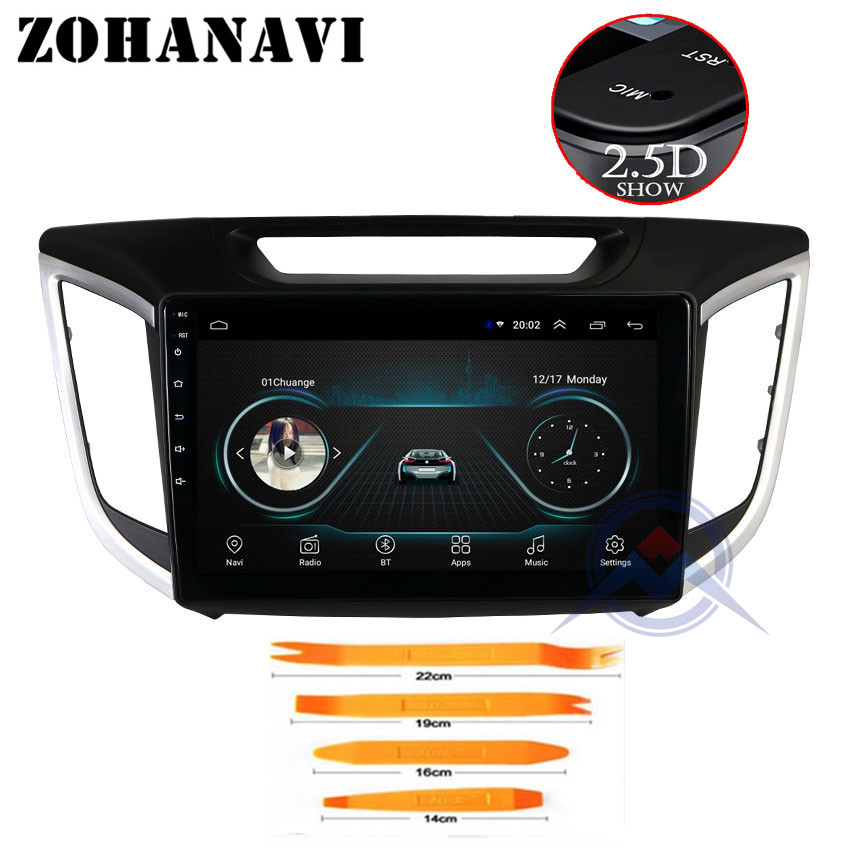 ZOHANAVI 9 inch Android 8.1 car dvd gps For hyundai creta ix25 dvd navigation raido video audio multimedia player