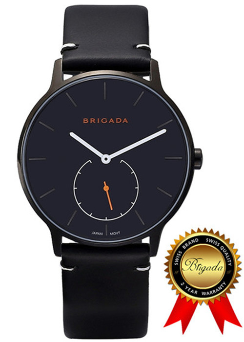 BRIGADA Swiss Bramd Watches for Men, Nice Fashion Cool Black Quartz Men's Watch satlink ws 6979se dvb s2 dvb t2 mpeg4 hd combo spectrum satellite meter finder satlink ws6979se meter pk ws 6979