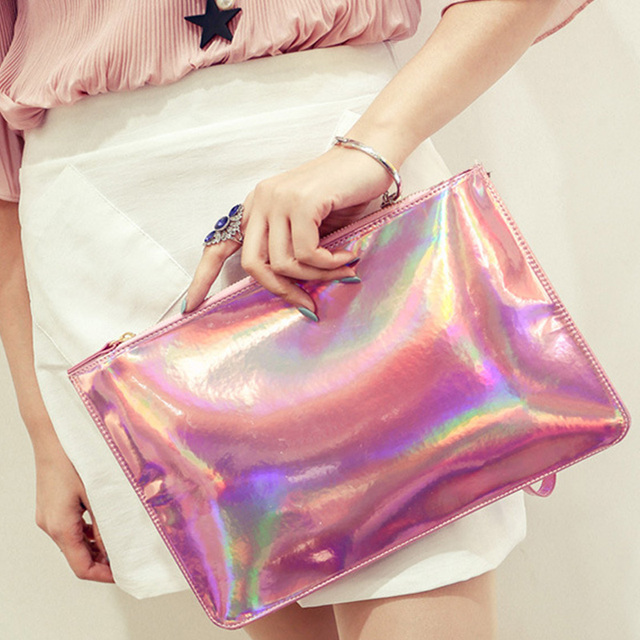 fashion blingbling shiny Women Laser beautiful Evening bag new trend Party style  for girls Casual Clutch minaudiere make up bag