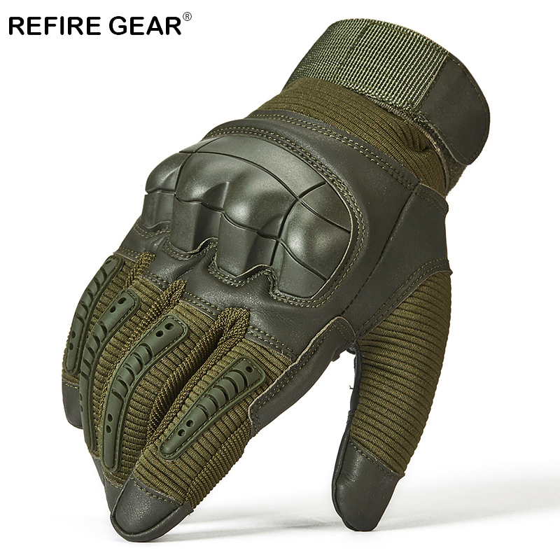 Honest Refire Gear Outdoor Tactical Full Finger Gloves For Men Knuckles Hiking Camping Gloves Male Army Riding Cycling Gloves