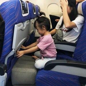 Image 2 - Şişme sökülebilir Footrest yastık çocuklar uçuş Footrest yastık ayrı olarak 3 farklı yükseklik seyahat yastık ayak pedi