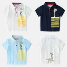 AJLONGER Childrens Short Sleeve Boys  Cartoon Kids Boy Tops tees Cotton Summer Clothes