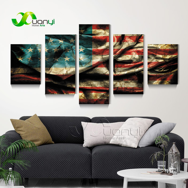 Vintage American Flag Wall Art online get cheap american flag wall art -aliexpress | alibaba