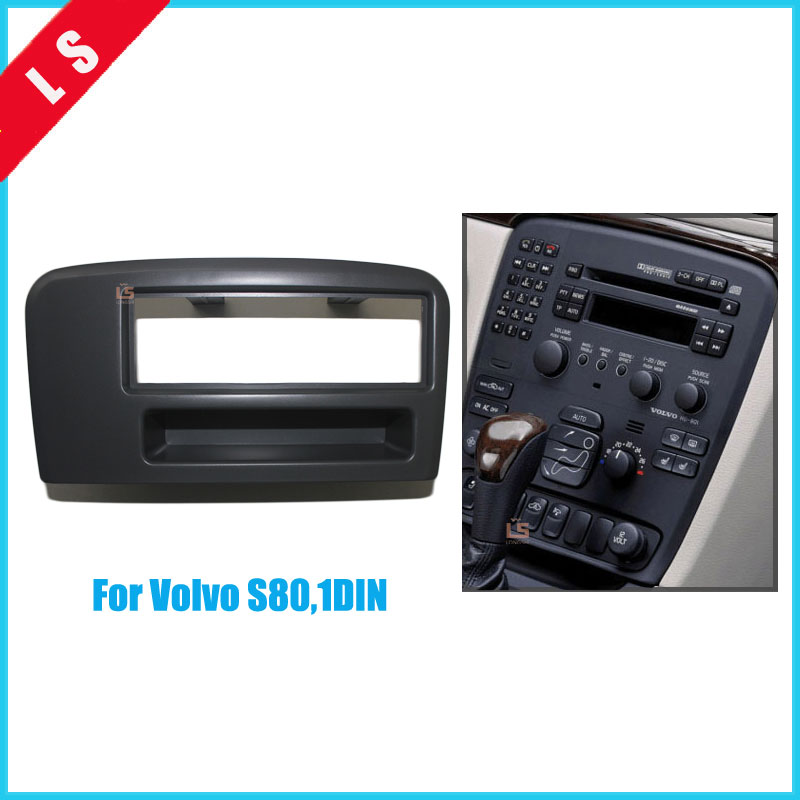 Car dash Radio Fascia for <font><b>Volvo</b></font> S80 1DIN Autostereo <font><b>Adapter</b></font> Dashboard CD Trim Panel Plate Fascia Frame In Dash Mount Kit,1 <font><b>din</b></font> image