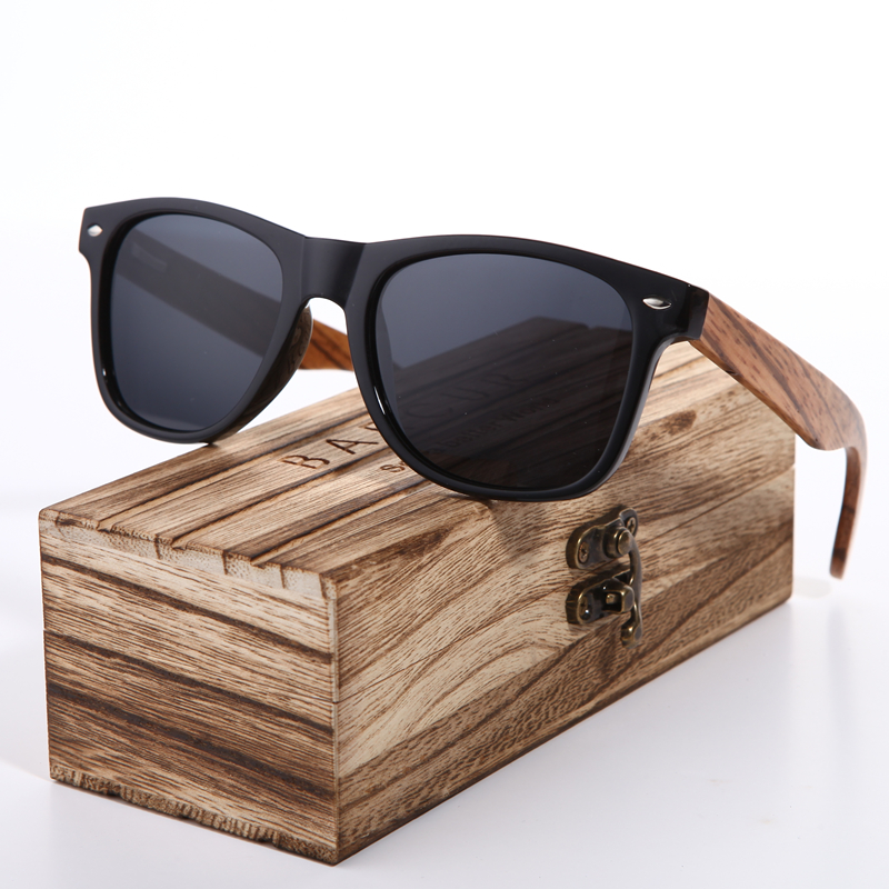 Sunglasses 2018 Polarized Zebra Wood Glasses Hand Made Vintage Wooden Frame Male Driving Sun Glasses Shades Gafas With Box