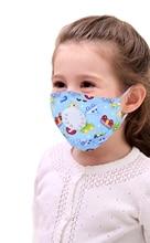 6pcs Cartoon Children PM2.5 Mouth Mask Kids Breath Valve Anti Haze Breathable Mask Anti Dust Mouth-Muffle Respirator Face Masks