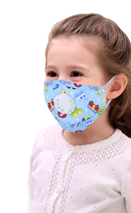 Image 2 - 6pcs Cartoon Children PM2.5 Mouth Mask Kids Breath Valve Anti Haze Breathable Mask Anti Dust Mouth Muffle Respirator Face Masks