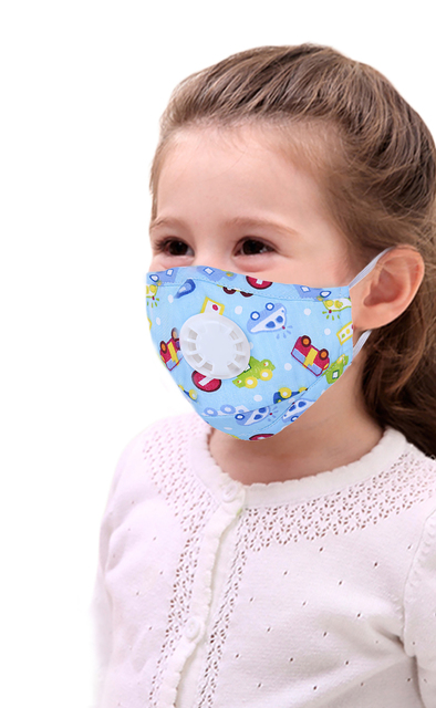6pcs Cartoon Children PM2.5 Mouth Mask Kids Breath Valve Anti Haze Breathable Mask Anti Dust Mouth-Muffle Respirator Face Masks 1