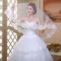 Bride Veils One Layer White Applique Tulle 3 Meters Veu De Noiva Long Wedding Veils Bridal Accessories Lace Bridal Veil