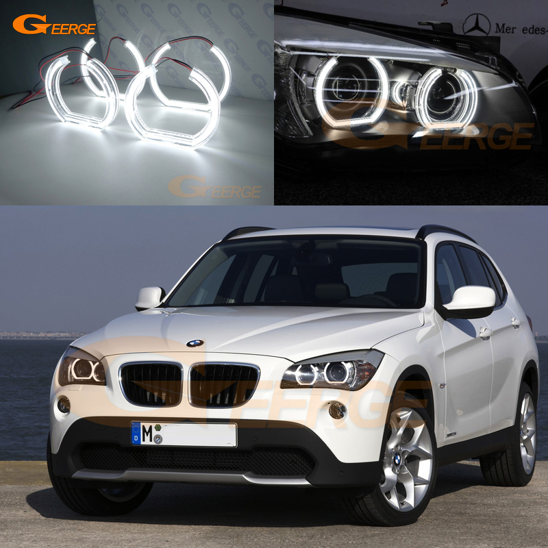 For BMW X1 E84 2010 2011 2012 2013 2014 2015 Xenon headlight Excellent DTM Style Ultra bright led Angel Eyes kit for bmw 5 series e60 e61 lci 525i 528i 530i 545i 550i m5 2007 2010 xenon headlight dtm style ultra bright led angel eyes kit