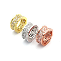 High Quality Low Price Stainless Steel Rings For Women Men Luxury Rose Gold Full Cz CZ