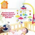 Minitudou toys 0-12 meses de bebê berço móvel musical cama sino com animais chocalhos aprendizagem precoce da projeção dos desenhos animados crianças brinquedo