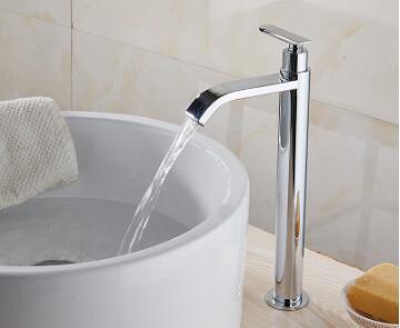 Tuqiu смеситель для раковины Одноместный холодный кран для ванной комнаты смеситель для раковины ванной комнаты высокий хромированный латунный кран для холодной воды - Цвет: style 5
