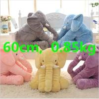 Large Stuffed Plush Elephant Toy, Soft Bedroom Bedding Animal Elephant Pillow For Baby & Kids Sleeping Toys