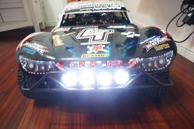 Gas En Licht : Rc auto gas led vordere lichter scheinwerfer vier licht