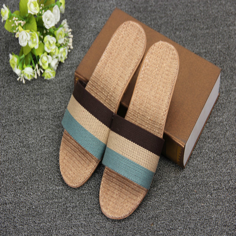 2019 Spring and summer home flax slippers men slippers sandals - Men's Shoes - Photo 3