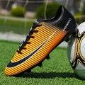 Длинные шипы и TF футбольная обувь для мужчин и женщин  мужские уличные атлетические кроссовки для взрослых  брендовые профессиональные фут...