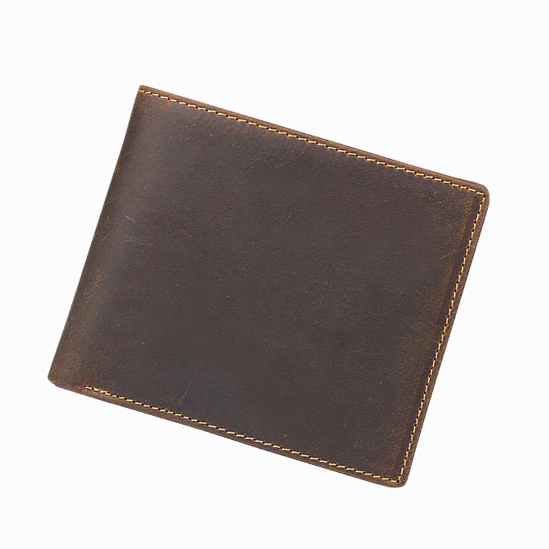 Crazy Horse Leather Wallet Male Theft Protection Rfid Wallet Men Vintage Slim Genuine Leather Mens Wallets Luxury Money Purse men wallet male cowhide genuine leather purse money clutch card holder coin short crazy horse photo fashion 2017 male wallets