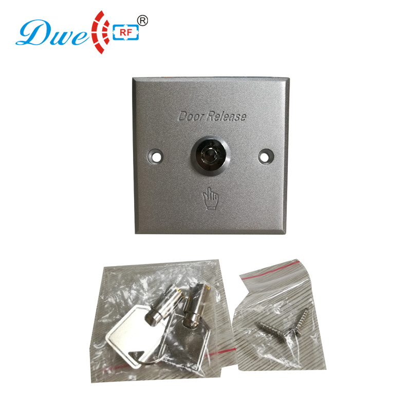 DWE CC RF Access control kits aluminum alloy silver door open push release switch with key dwe cc rf access control kits aluminum alloy silver door open push release switch with key