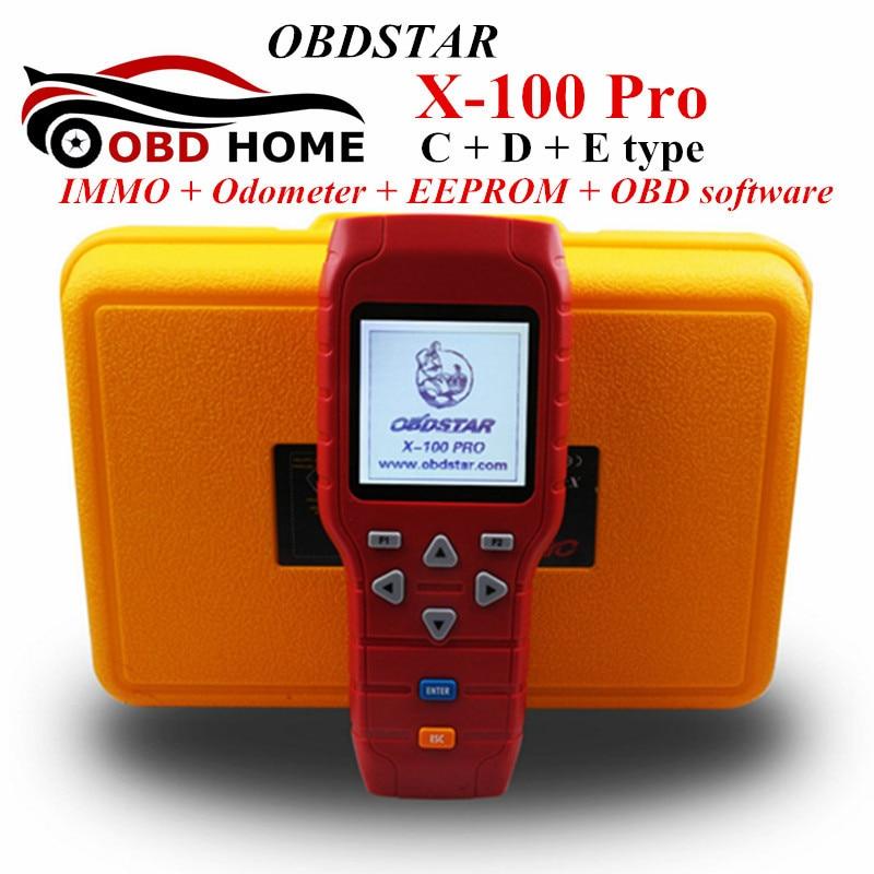 X-100 PRO (C+D+E Model) IMMOBILISER & Odometer & EEprom Adapter OBDSTAR X 100 PRO Auto Key Programmer X100 Free Update Online