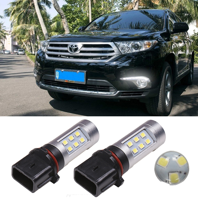 2x P13W PSX26W Car Fog Lamp Bulb Driving DRL Light For Toyota Highlander Skoda Yeti 5L Chevrolet Camaro Daytime Running Light