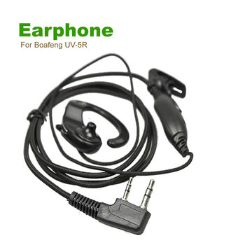 Good price Woven Cable Two Way Radio Wireless Earphone For Boafeng UV-5R Puxing WOUXUN HYT,TYT