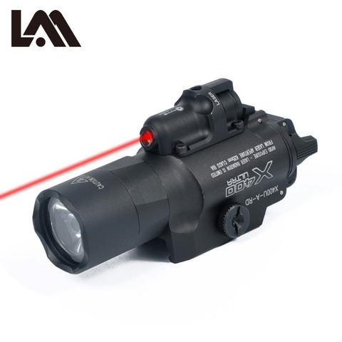 tatico sf x400 ultra evolucao noite arma pistola de luz com laser vermelho lanterna lanterna